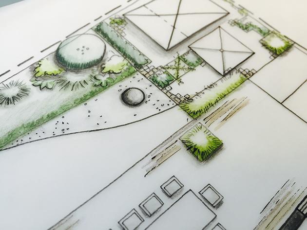 Gartenplanung Entwurfsplan
